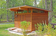 Need a #Shed or #outbuildings? visit www.outbuildings.ca  Here is another example of wrap around clerestory windows. They let in a ton of light