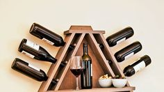Hit the wall about where to put the wine? With this neat rack, it will never be in the way.