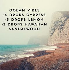 This Ocean Vibes Diffuser Blend Cypress Essential Oil-Comforting Grounding Sense of security Soothes Anger Lemon Essential Oil- Energy Booster Mental Pick-Me-Up Respiratory Rescue Royal Hawaiian Sandalwood- Supports Heart Health Helps Balance Emotions AIDS with Deep Sleep