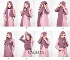This is a modest and beautiful full chest coverage hijab tutorial, looking gorgeous, flowing and covering almost all the chest area. Here are the steps for this look: Place the hijab on your head with long & short sides Take… Hijab Mode Inspiration, Style Inspiration, Hijab Dress, Hijab Outfit, Muslim Girls, Muslim Women, Beau Hijab, Hijab Simple, How To Wear Hijab