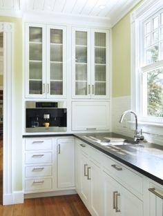 White cabinets / Miele coffee maker