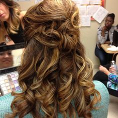 Hair styling by Samantha of RS Makeup Artistry.