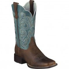 10004720 Ariat Women's Quickdraw BR Western Boots - Brown www.bootbay.com
