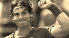 Best fist pump, best footwork. Rafa Nadal