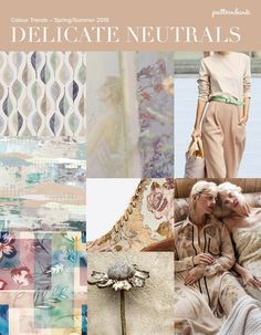 Soft Neutrals / Pastel Shades / Pale on Pale / Natural Colour / Muted Texture / Faded Softness / Delicate Image credits: Colourblock Watercolour Leaves by