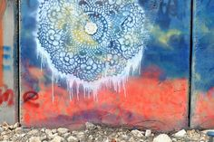 Beautiful street art. Hand cut stencil, spray, porcelain by NeSpoon