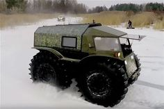 The latest ATV by Sherp will definitely be able to overcome every possible obstacle on its way.