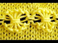Como Tejer Flores-How to Knit Flowers 2 Agujas (175)