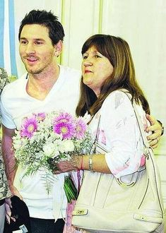 Leo Messi & his mother