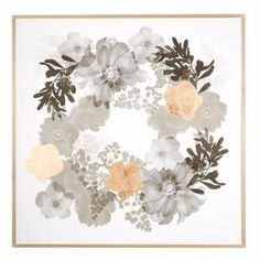 Bonnie and Neil Large Floral Framed Print | Bonnie and Neil – Salt Living or online at www.saltliving.com.au #saltliving #bonnieandneil #screenprinting #linen #print
