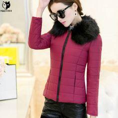 $32.99 (Buy here: https://alitems.com/g/1e8d114494ebda23ff8b16525dc3e8/?i=5&ulp=https%3A%2F%2Fwww.aliexpress.com%2Fitem%2FHUOX-Faux-Fur-Collar-Women-Winter-Short-Coat-2016-Autumn-Spring-Slim-Cotton-Padded-Overcoat-Female%2F32738095044.html ) HUOX Faux Fur Collar Women Winter Short Coat 2016 Autumn Spring Slim Cotton Padded Overcoat Female Warm Pocket Jacket Parkas for just $32.99