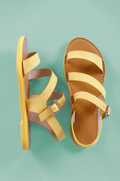 This chic flat sandal features an open toe silhouette, strappy construction vamp, lightly padded insole, and adjustable side buckle fastening.Material: Vegan Suede (man-made)Sole: SyntheticMeasurement Heel Height: (approx) Lace Up Sandals, Strappy Sandals, Flat Sandals, Gladiator Sandals, Shoes Sandals, Open Toe Flats, Fashion Sandals, Me Too Shoes, Sunnies