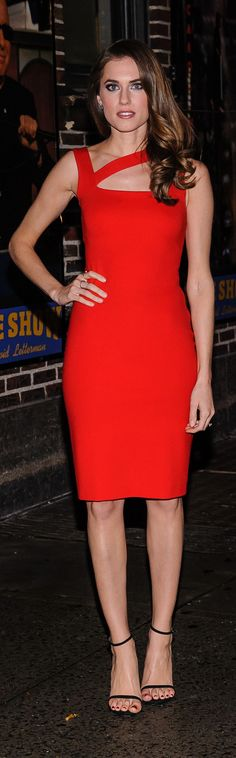 Let Allison Williams's little red dress inspire your Valentine's Day look.