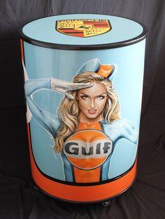Gulf oil drum