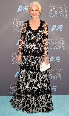 2016 - Helen Mirren wore Dolce & Gabbana at the 21st Annual Critics' Choice Awards