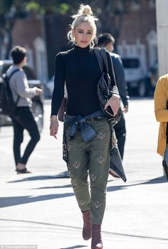 Looking good: Gwen Stefani rocked a casual yet stylish look in Los Angeles on Tuesday as she stepped out solo