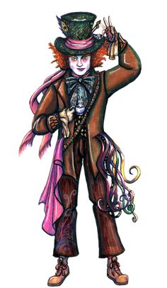 """This is the second character I have made for 's Disney Heroes Collaboration project, Johnney Depp as the Mad Hatter from Tim Burton's """"Alice in Wonderla. Alice In Wonderland Text, Alice In Wonderland Characters, Adventures In Wonderland, Lewis Carroll, Queen Of Hearts Alice, Queen Alice, Cheshire Cat Art, Chesire Cat, Mad Hatter Cartoon"""