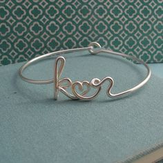 Two Lovers Bracelet in Sterling silvercustom 2 by Laladesignstudio, $75.00