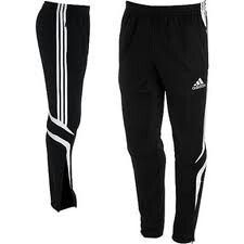 d4c2fb4bbcf Details about NWT Adidas Soccer Tiro Training Pants Black S M L Football  Warm Up