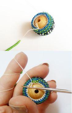 Вязание бусины из бисера мастер класс