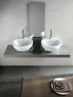 You&me 46 lavabo - Produzione sanitari di design in ceramica, arredo bagno e accessori - Hatria Srl