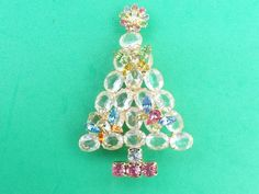 Vintage Gale and Friends Butterfly Christmas Tree Brooch AB371 #GaleandFriends