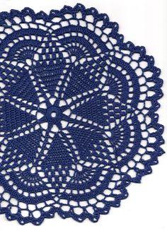 Crochet doily, lace doily, table decoration, crocheted place mat, doily…