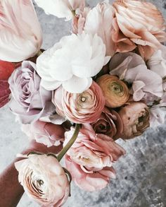 Dusty pink flowers by -  StyleClashStudio   ITALIAPOSTERLI
