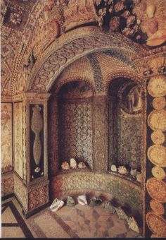 The Grotto or Shell House, Goodwood House, Goodwood, Chichester P018 0PX. Nestling in the grounds of Goodwood House, is a glorious Shell House, the product of 7 years work, c.1738-1748, by Sarah Lennox, 2nd Duchess of Richmond (1705-1751), and her daughters, Caroline Fox (1723-1774) and Emily Kildare (1731-1814). It is likely that they had the help of specialist craftsmen and panels may have been worked on in the house. In total there are over 500,000 shells collected worldwide.