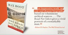 """RT @CFR_org: Do you have questions for @MaxBoot on his new book """"The Road Not Taken?"""" Join @JamesMLindsay for a Facebook Live chat with him at 2:30pm ET today: https://t.co/Br0mDvT9Tx https://t.co/fJarGZwaCx"""