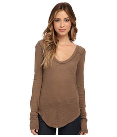 Free People Layering Me L/S Burgundy - Zappos.com Free Shipping BOTH Ways