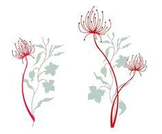 Adesivo da parete in vinile removibile Red Flowers - 50x70 cm | Dalani Home & Living