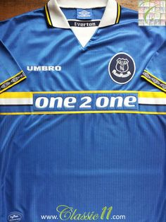 Relive Everton s 1997 1998 season with this vintage Umbro home football  shirt. Everton Fc b9dae5a32