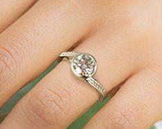 Elegant Affordable Custom Moissanite by SolitaireRingJeweler Wedding Bands, Wedding Ring, Solitaire Ring, White Gold Rings, Moissanite, Engagement Rings, Elegant, Trending Outfits, Diamond