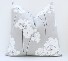 20 x 20 Throw Pillow Cover Cream Pillow   Printed by EastAndNest, $19.00