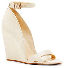Imagine Vince Camuto Lilo – Satin & Lace Wedge Sandal