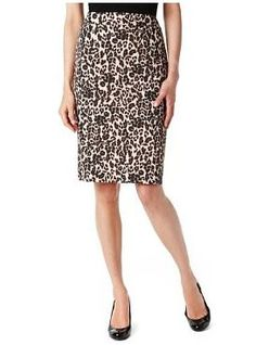 M leopard print pencil skirt £29.50