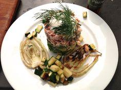 Lachs- & Avocadotartar mit gegrilltem Fenchel Fennel Salad, Cilantro, Lemon, Low Carb, Warm, Blog, Beautiful, Cooking, Salmon