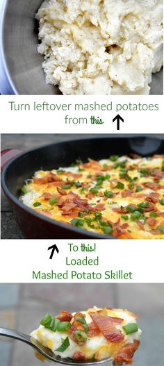 The BEST Leftover Mashed Potato Recipe – Loaded Mashed Potato Skillet