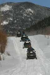 To Go Snowmobiling on Old Canada Road
