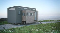 """Is the next big thing in tiny houses a transformable body? Here's one more sign pointing to it. The """"Aurora"""" concept from Canadian builder Zero Squared will also expand at the push of a button with electric motors."""