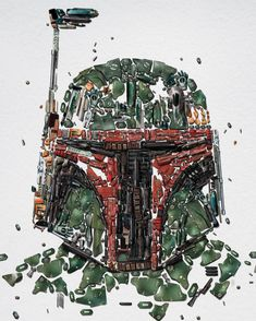 Star Wars Identities | Boba Fett (look closely at what the illustration is composed of)