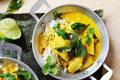 Tumeric & Coconut Fish Curry.  Whiting is a delicate fish that requires minimal cooking and suits the gently spiced flavours of this dish.