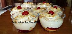 Ελληνικές συνταγές για νόστιμο, υγιεινό και οικονομικό φαγητό. Δοκιμάστε τες όλες Greek Sweets, Greek Desserts, Cold Desserts, Party Desserts, Greek Recipes, Desert Recipes, My Recipes, Pastry Recipes, Cookbook Recipes