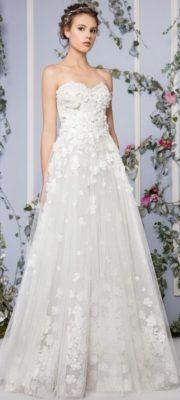 Unique Off-the-Shoulder Empire Waist Ballgown Wedding Dress