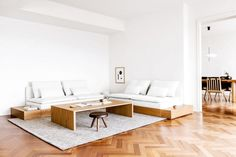 A Japanese Inspired Apartment by Erin Roberts - modernes Interieur Design Living Room, Living Room Seating, Living Room Interior, Design Apartment, Apartment Interior, Apartment Living, Minimal Apartment, Modern Japanese Interior, Japanese Interior Design
