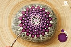 """Mandala actually is a sacred pactice enganged by Tibetan monks and many other cultures. Mandala words originated from classical Indian Sanskrit languange that could be losely means a """"circle"""". Here is DIY Mandala Rock Painting Pebble Painting, Dot Painting, Pebble Art, Stone Painting, Mandala Painted Rocks, Mandala Rocks, Painted Stones, Mandalas Painting, Mandala Drawing"""