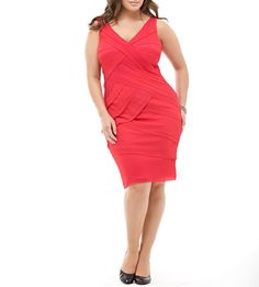 Tadashi Shoji  Dress red neon  16 #TadashiShoji