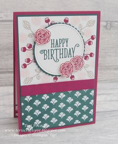 Cake Flower Box Stampin Up 15 Ideas Flower Boxes, Flower Cards, Happy Birthday Gorgeous, Birthday Cards For Her, Card Kit, Stampin Up Cards, Cardmaking, Paper Crafts, Project 3