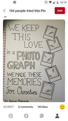 """We keep this love in a photo ."" Ed Sheeran Art drawing - Great for things""We keep this love in a photo ."" Ed Sheeran Art drawing amour artdrawingslove ✨ Calligraphy Quotes Doodles, Doodle Quotes, Hand Lettering Quotes, Bullet Journal Quotes, Bullet Journal Ideas Pages, Bullet Journal Inspiration, Pencil Art Drawings, Easy Drawings, Art Sketches"